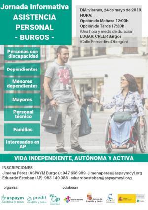 PREDIF CyL y ASPAYM CyL organizan en Burgos una jornada informativa sobre asistencia personal