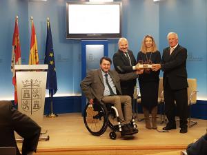 Cermi Estatal entrega su Premio Cermi.es 2018 a la Consejería de Familia e Igualdad de Oportunidades, PREDIF CyL y Federación de Salud Mental Castilla y León